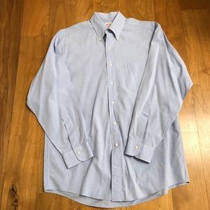 Brooks brothers dress shirt in classic blue color